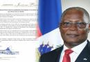 L'ancien Président Jocelerme Privert salue le symbolisme du drapeau à l'occasion des 216 ans de sa création.
