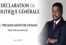 Énoncé de la Politique Générale du Premier Ministre Fritz-William Michel