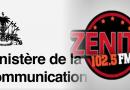 Le  Gouvernement condamne avec fermeté le comportement irresponsable de radio Zenith dans la crise actuelle